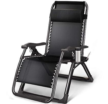 YWZDY Sillas Plegables de Tela Terraza reclinable reclinable ...