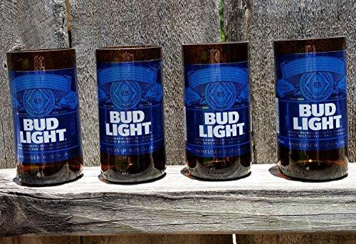 Set of 4 upcycled Bud Light ()