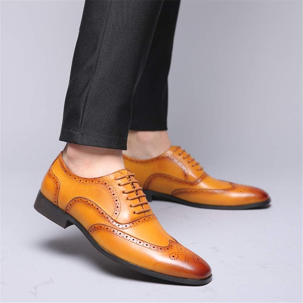 Brogues Homme Cuir Chaussures De Ville /à Lacets Oxford Derby Schuhe Plat Dress Mariage Chaussures Habill/ées Office Party Business Shoes Noir Marron Jaune 38-48 EU