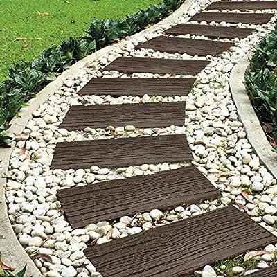 Garden Gear - Pasos de Piedra para jardín, respetuosos con el Medio Ambiente, de Goma reciclada: Amazon.es: Jardín