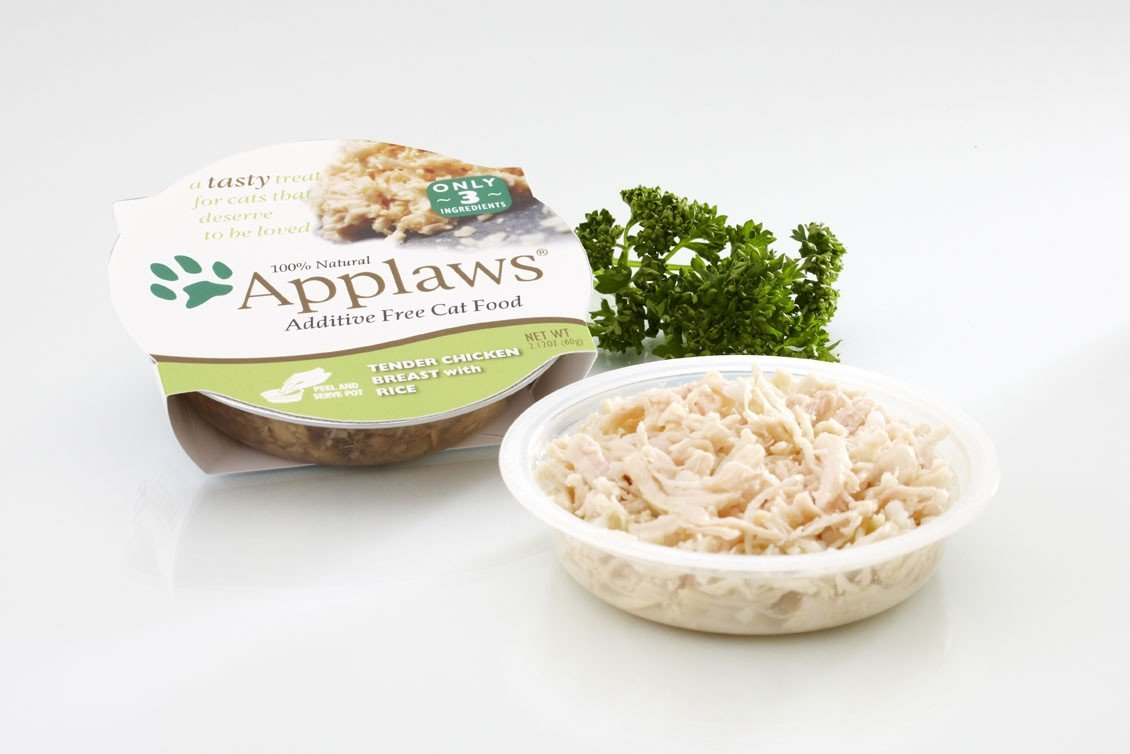 Applaws Cat Pots Tender Chicken Breasts with Rice Peel Top Cat Food (18) 2.12oz Trays