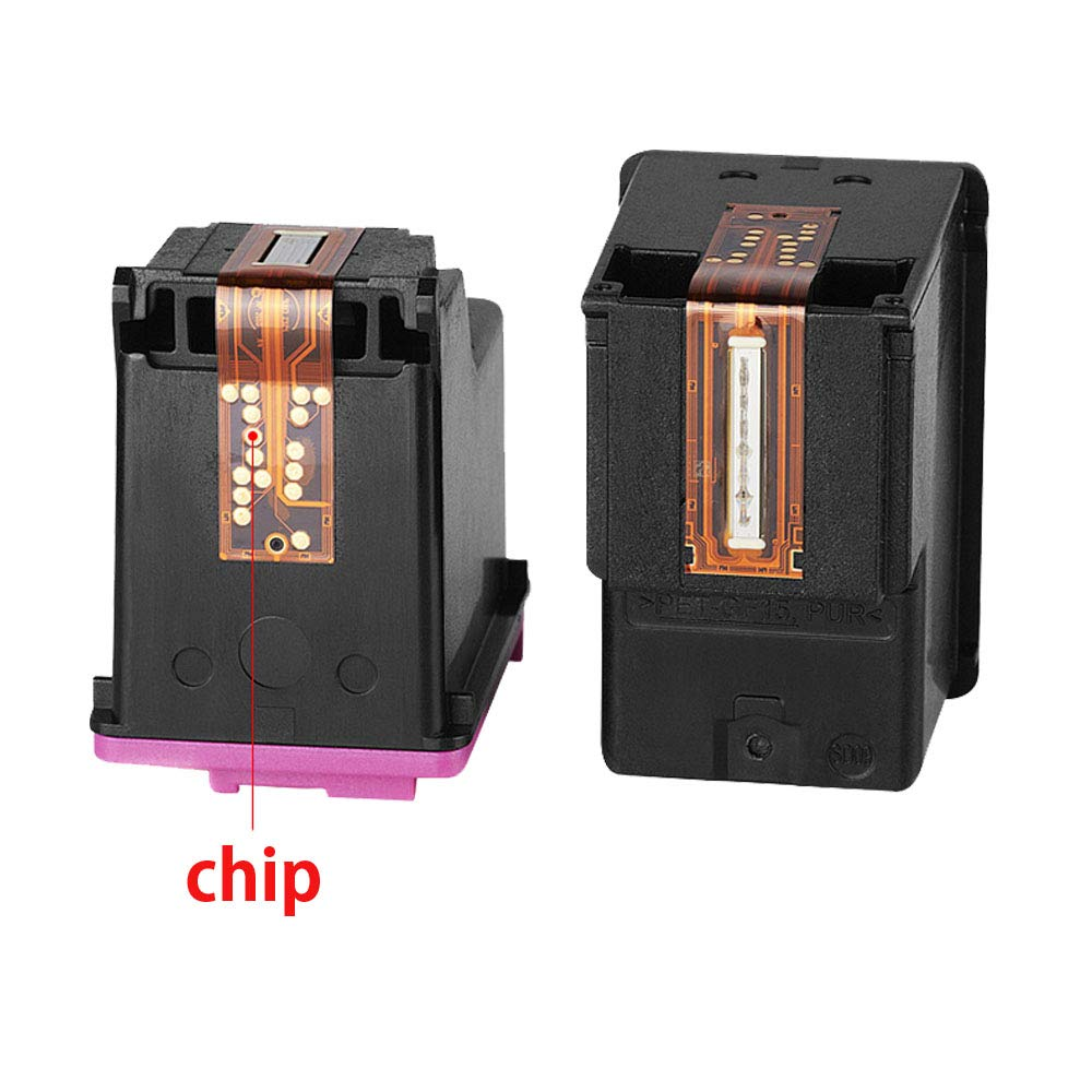 Wolfgray 304XL Remanufacturado para HP 304 XL 304 Cartuchos de tinta (2 Negro) para HP Deskjet 3720 3730 3732 3700 3735 3733 2620 2630 2632 2633 HP ...