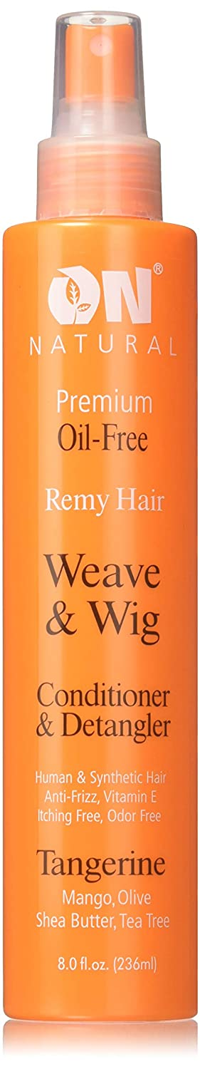 On Natural On Organic Premium Oil-free Weave & Wig Spray Tangerine, 8 Fluid Ounce