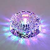 Modern Crystal LED Ceiling lights 10cm 3W Aisle/Porch lights chandeliers(Surface mounted,Colored Light)