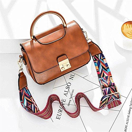 Xuanbao La Bolsa de Asas del Mensajero del Hombro de los Bolsos de la Moda del Bolso de Señora Grey Handbag (Color : Gris) Marrón