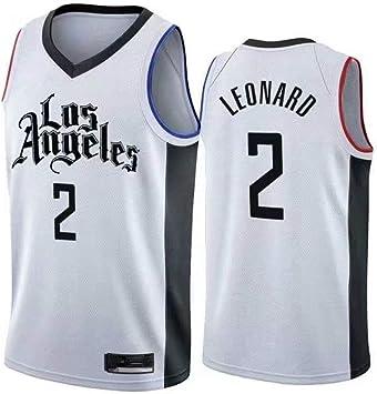 GRYUEN Hombre Mujer Ropa de Baloncesto Clippers 2# Leonard Jersey ...