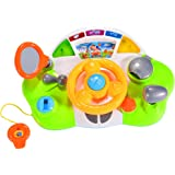 FunsLane Kids Steering Wheel with Lights, Mirror, Music and Sound Educational Toy