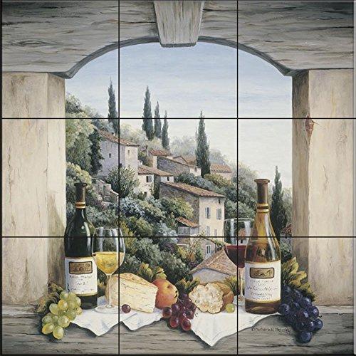 - Ceramic Tile Mural - Still Life in The Italian Hills - by Barbara Felisky - Kitchen backsplash/Bathroom Shower