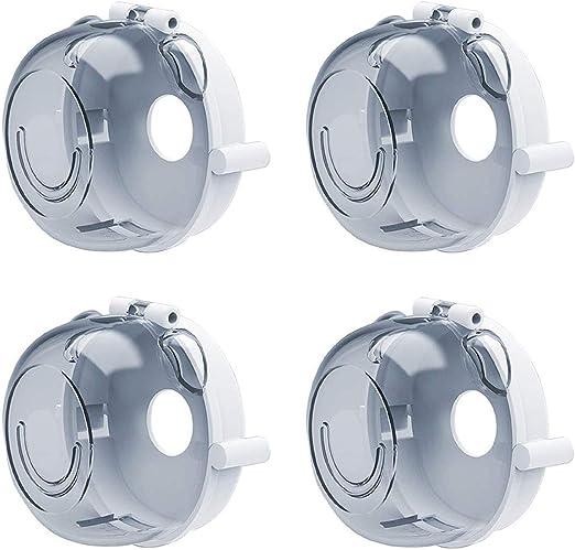 8 piezas Tapas de perillas de horno de seguridad transparentes Tapa protectora Perilla duradera Seguridad para ni/ños Cubiertas de perillas de estufa de cocina GLOBALDREAM Tapas de perillas de estufa