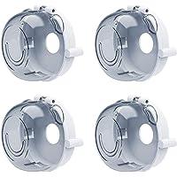 4 piezas Cubiertas de perillas de estufa Bebé Niños Horno de seguridad Gas Diseño universal grande Cerraduras protección…
