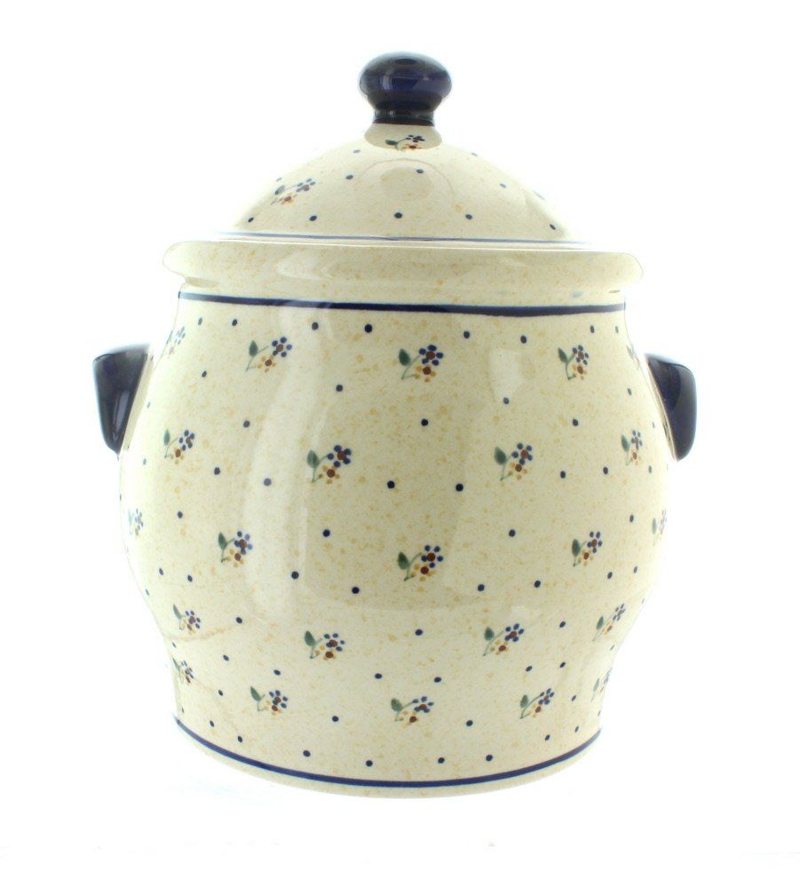 Polish Pottery Country Meadow Cookie Jar
