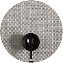 "Chilewich Basketweave Round Table Mat 15"" White/Silver"