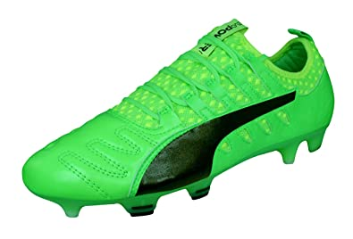 PUMA Evopower Vigor 1 K Leather FG Mens Soccer Cleats Boots-Green-7 d8bff1c17bb7