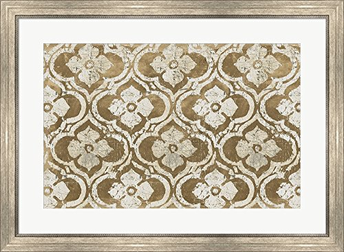 Gilt Complex I Neutral Warm by Avery Tillmon Framed Art Print Wall Picture, Silver Scoop Frame, 33 x 24 inches
