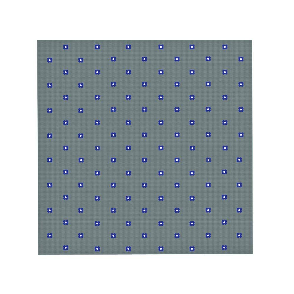 Geschenke f/ür M/änner Fliege und Einstecktuch im Set in Grau mit blauen Bl/üten 5 Jahre Garantie