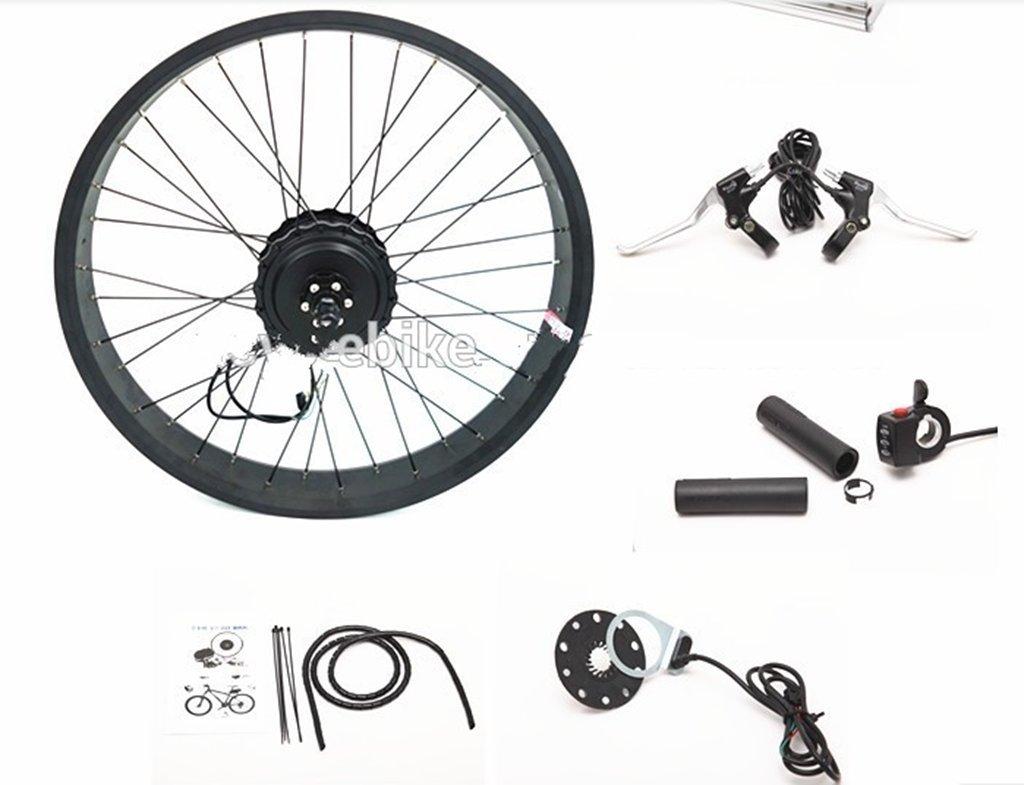 卸売 48V 500W 電動自転車 電動ファットタイヤ バイクホイール 204.0 ブラシレスギアファットタイヤ 500W リアファットバイクモーターキット   B06XKPN83C