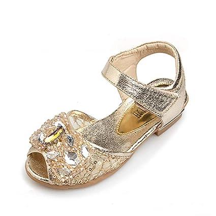 540e9286 Zhongsufei Zapatos de Princesa Niños Niñas Zapatos de Fiesta de Bodas  Brillo Damas de Honor Zapatos