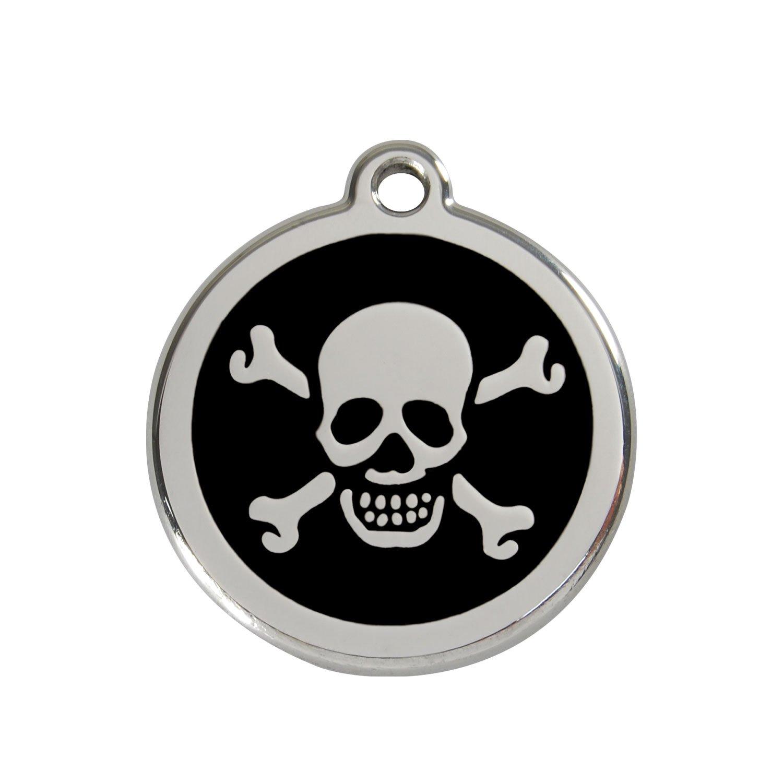 Red Dingo Médaille pour Chien Motif Tête de Mort Noir 30 mm 9330725003699 1XBBM Collier Harnais