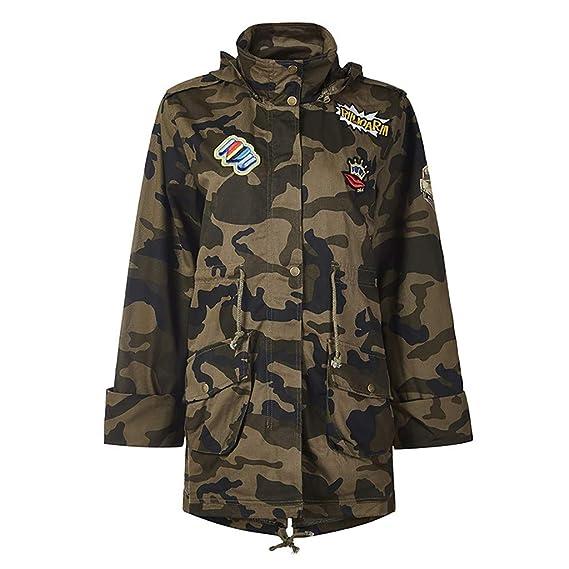 Amazon Cappotto Top Abbigliamento Pullover Cappuccio it Camouflage Holywin Capispalla Giacca Retro Donna Allentato Con B5qnP