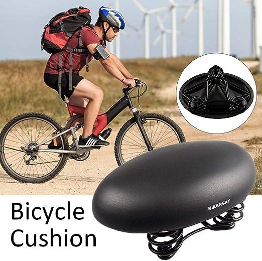 LeKing Cojín de Bicicleta de PU, Funda de sillín de Bicicleta con ...