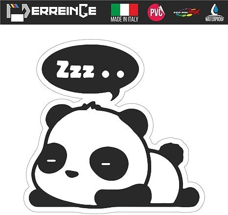 erreinge Sticker Panda SX Adesivo Sagomato in PVC per Decalcomania Parete Murale Auto Moto Casco Camper Laptop cm 10