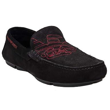 51cd81014f Amazon.com: Emporio Armani Driving Shoe Mens Shoes Black: Clothing
