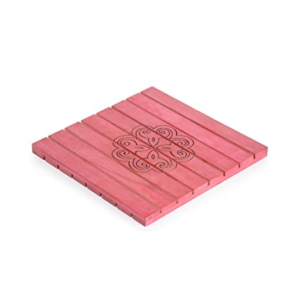 Buy Style My Way Hand Carved Steam Beach Wood Red Square Trivet 8in X 8in Online At Low Prices In India Amazon In