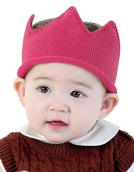 abcda5be7 Baby Boy Girl Crown Hat Baby Boy Birthday Hat Toddler Knit Crochet ...