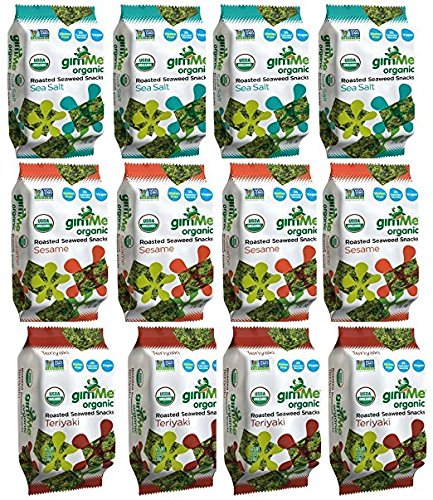 Roasted Seaweed (GimMe Roasted Seaweed Snacks, Variety Pack, 0.17 Ounce (Pack of 12))