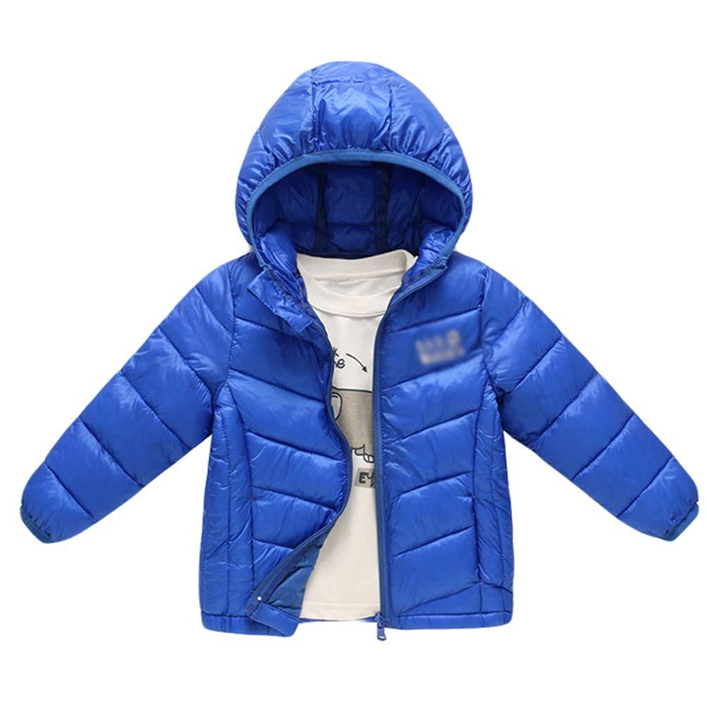 JEELINBORE Baby Toddler Lightweight Hooded Puffer Winter Jacket Kids Boys Girls Packable Down Coat