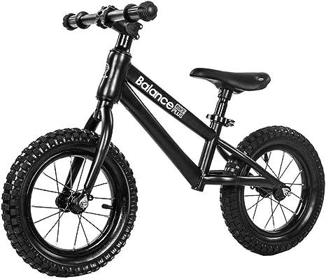 1-1 Bicicleta de Equilibrio, Competencia Amigable con el Medio Ambiente Ajustable Sin Pedales por Niños,Black: Amazon.es: Deportes y aire libre