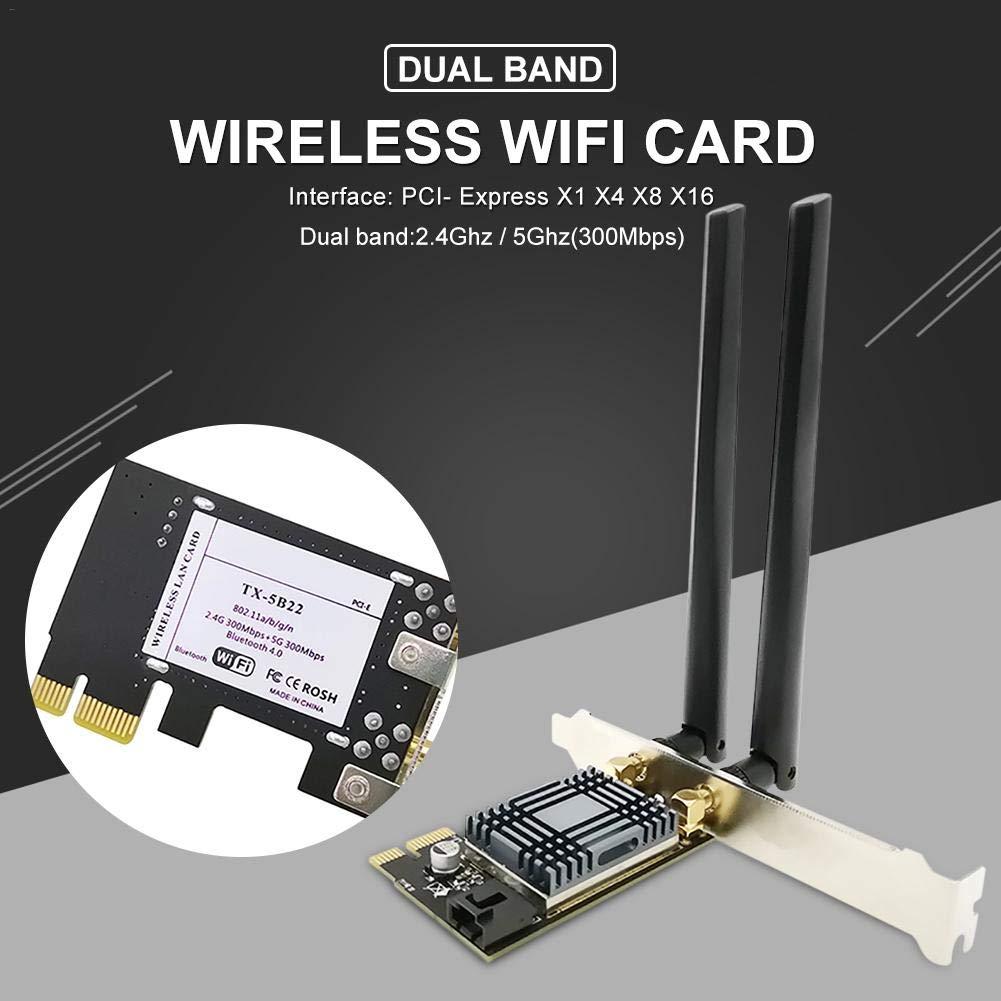 5G con Bluetooth 4.0 para PC De Escritorio Y Servidores Adaptador De Red Inal/ámbrica N1202 AR5B22 Tarjeta De Red Wi-Fi PCIE De Banda Dual 2.4G