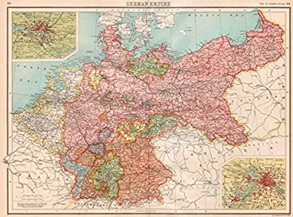 Amazon.com: GERMANY. German Empire; inset Hamburg; Berlin ...