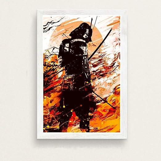 zxddzl Arte japonés Pintura Lienzo de Seda Cartel de la ...