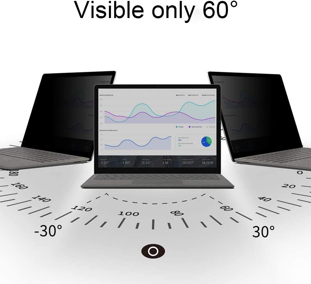 ZOEGAA Privacy Screen Protector for Microsoft Surface Pro X 13 Inch 2019 Released with Surface Pen Compatible Scratch Resistant Screen Protector for Surface Pro X