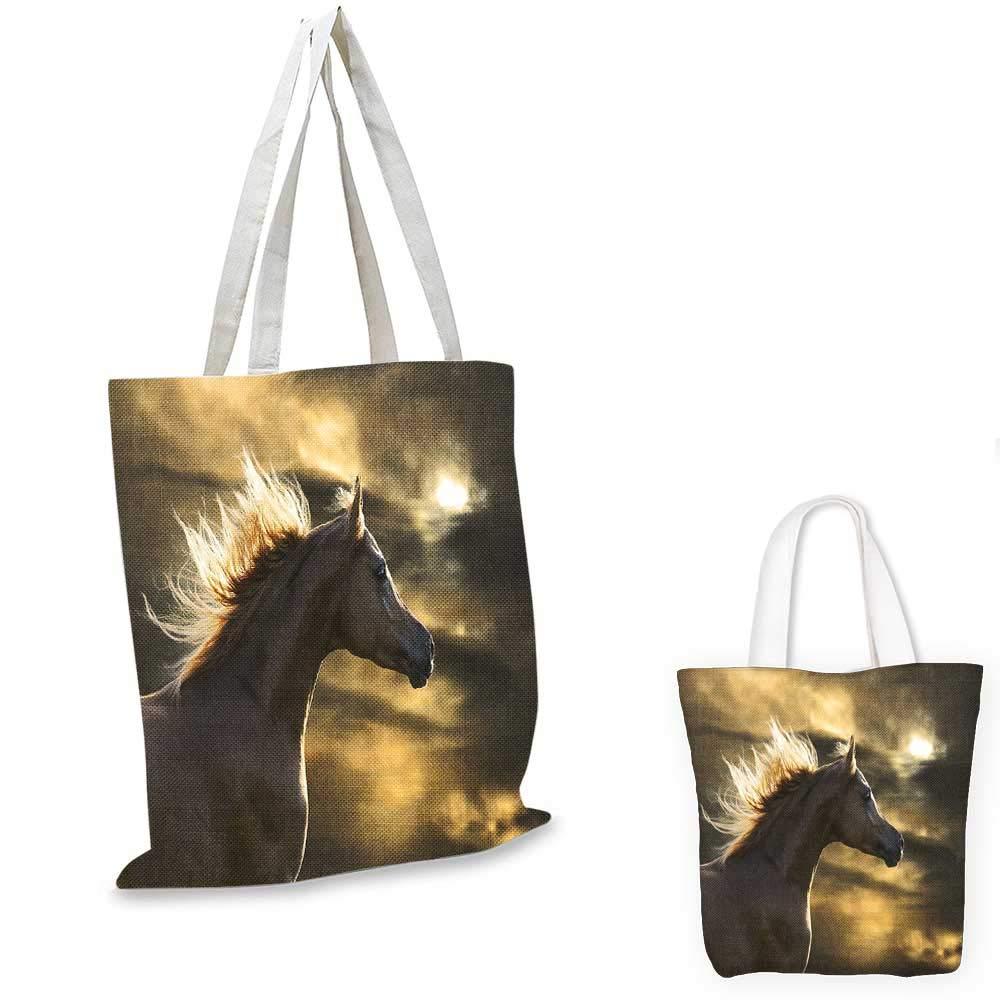 Horse Decor canvas messenger bag Powerful Appaloosa Stallion Graceful Royal Pure Blood Champion Equine Print foldable shopping bag Black White 14x16-11
