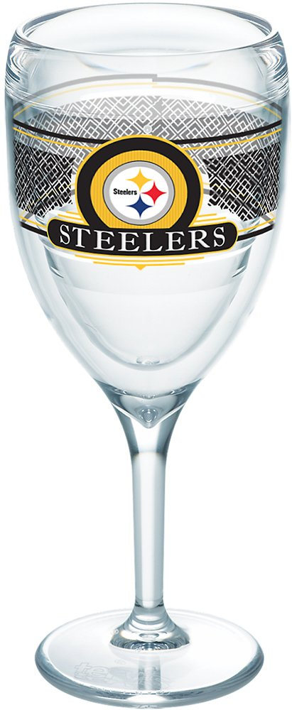 7d4ba707f2f Tervis 1227758 NFL Pittsburgh Steelers Select Tumbler with Wrap 9oz Wine  Glass, Clear