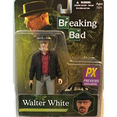 Breaking Bad Px Previews Exclusive Walter White Collectible Figure In Grey Khakis Including Bag Of Blue Stuff by Breaking Bad: Toys & Games