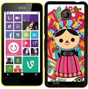 Funda para Nokia Lumia 630 - Mexican Doll 3 ( Muñeca Maria) by Los dibujos de Alapapaju