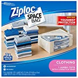 Ziploc FBA_70311 Clothing Space Bag, Variety Pack, 5 Count