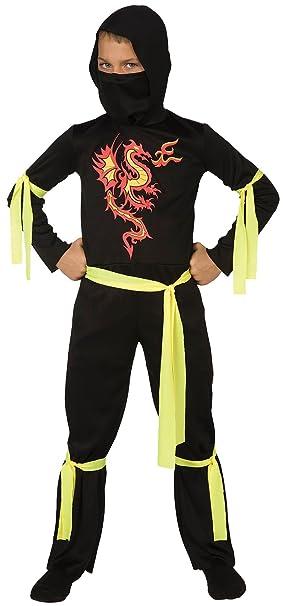 Amazon.com: Living Fiction Fire Dragon Ninja Halloween 5pc ...