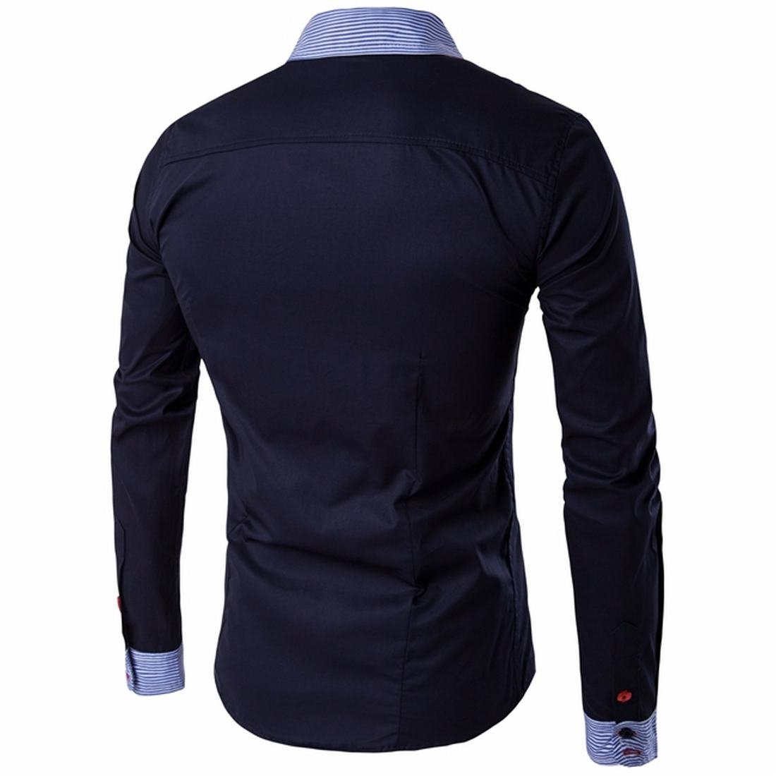 Honey GD Mens Casual Fashion Cozy Slim Long Sleeve Shirts