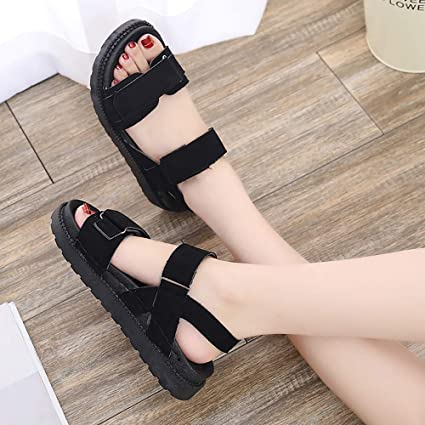 33e456a7c Image Unavailable. Image not available for. Color: Clearance! Hot Sale! ❤ Women  Summer Beach Sandals Flat Shoes Open Toe ...