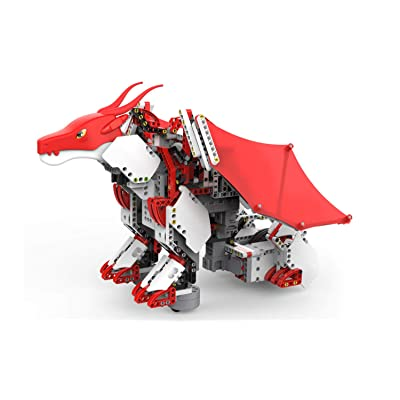 UBTECH JIMU Robot Mythical Series: Firebot Kit/ App-Enabled Building & Coding STEM Robot Kit (606 Pcs), Red, Model:JRA0601: Toys & Games