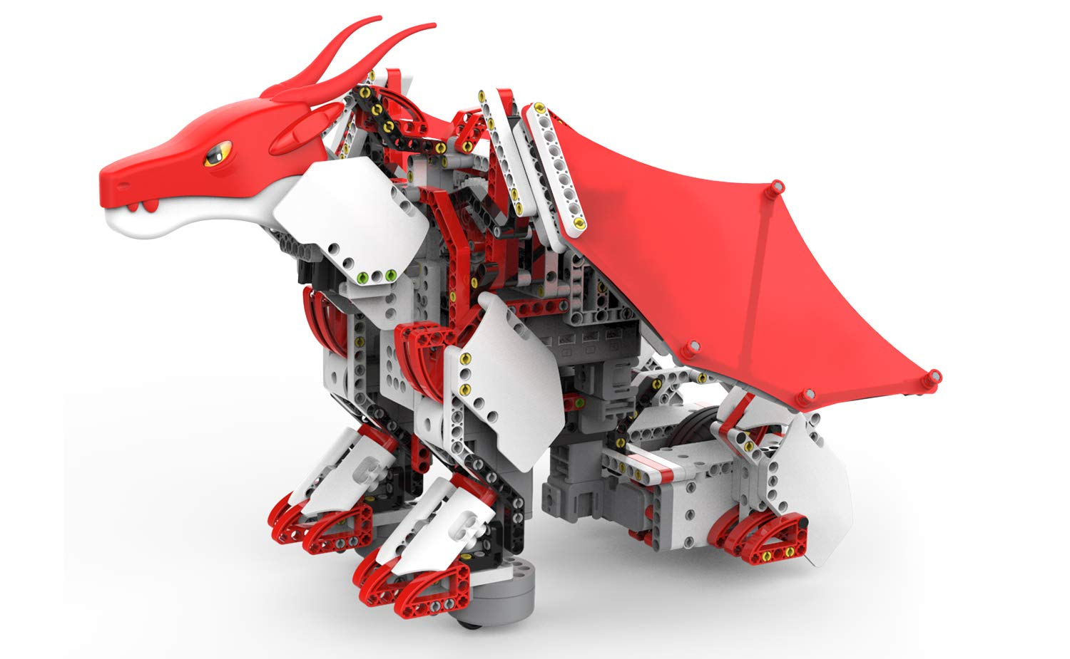 UBTECH JIMU Robot Mythical Series: Firebot Kit/ App-Enabled Building & Coding STEM Robot Kit (606 Pcs)