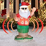 Animated Hula Dance Santa - Actually Shakes His Bottom - Christmas Inflatables 6ft