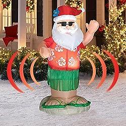 Animated Hula Dance Santa - Actually Shakes His Bottom -...