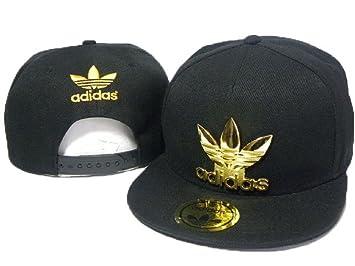 fe8cf91c747 2016 Fashion Fashion Brim Black Adidas Cap Gold Metal Logo)  Amazon ...