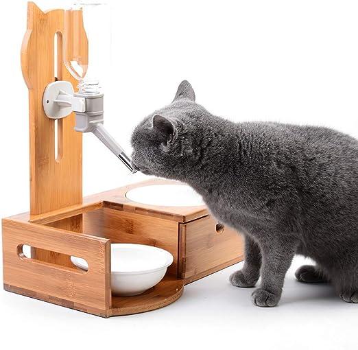 L&XY Cuencos Elevados para Perros Y Gatos, Alimentador De Mascotas ...