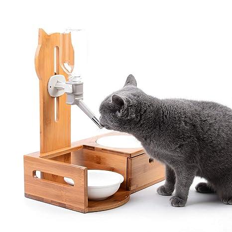 L&XY Cuencos Elevados para Perros Y Gatos, Alimentador De Mascotas Elevado Dispensador De Bebidas Sin